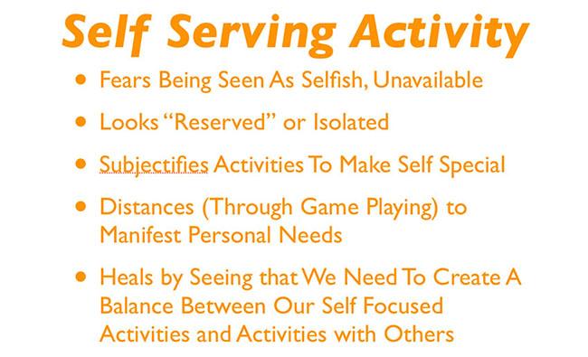 Self Serving Activity | HA events